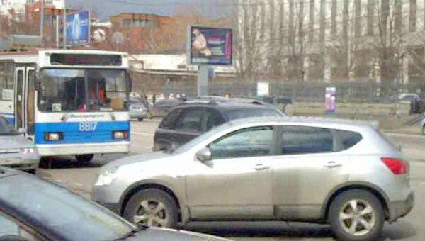 На Якиманке выключились светофоры