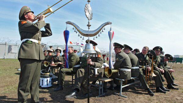 Репетиция Сводного военного оркестра на Ходынском поле. Архив
