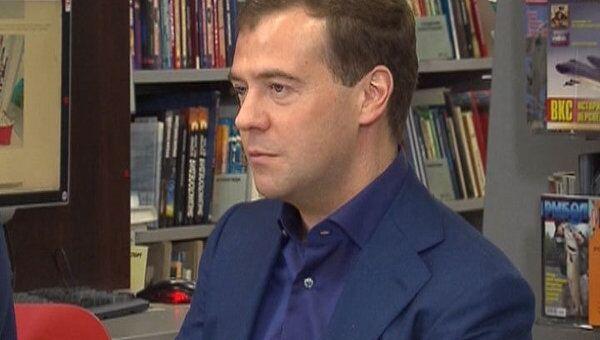 Медведев пообещал, что государство не будет накладывать лапу на интернет