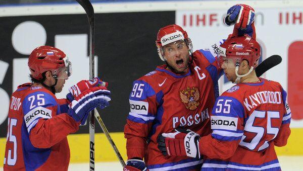 Хоккей. Чемпионат мира. Матч Россия - Словакия