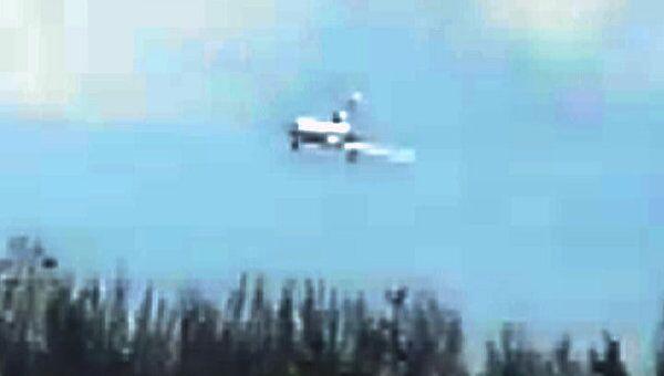 Аварийная посадка Ту-154 на аэродроме Чкаловский. Любительская съемка