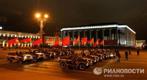 Репетиция парада Победы в центре Минска
