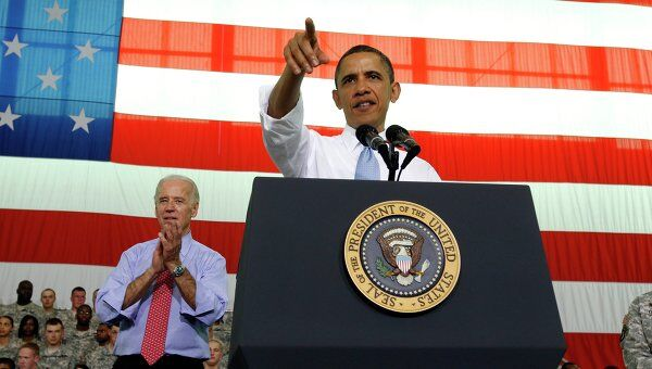 Барак Обама на военной базе Форт-Кемпбелл