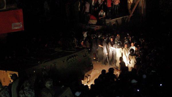 Cтолкновения у церкви Мари-Мина в Гизе в Египте