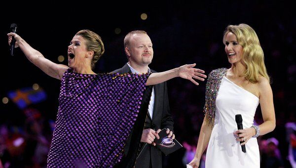 Открытие первовго полуфинала музыкального конкурса Евровидение-2011