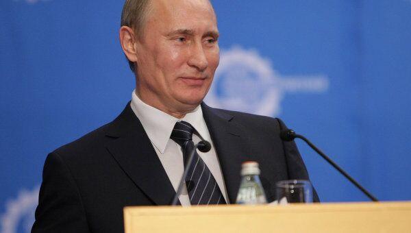 Премьер-министр В.Путина побывал на съезде Союза машиностроителей России