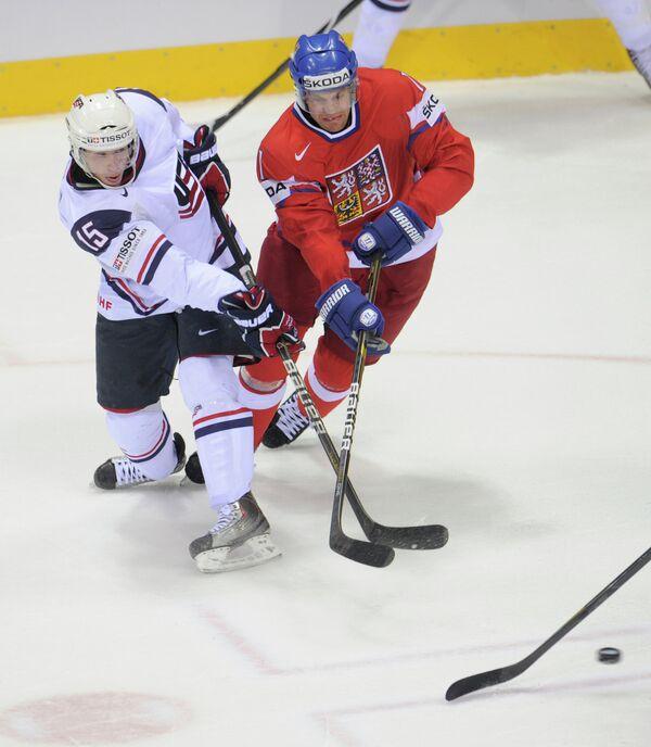 Игровой момент матча Чехия - США