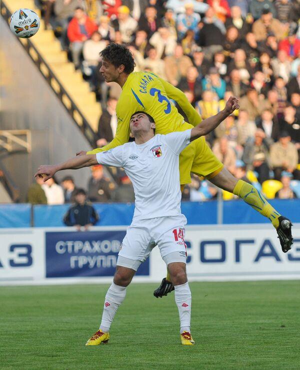 Игровой момент матча Ростов - Алания