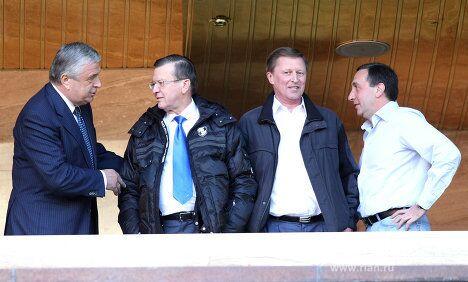 Павел Бородин, Виктор Зубков, Сергей Иванов, Евгений Гинер (слева направо)