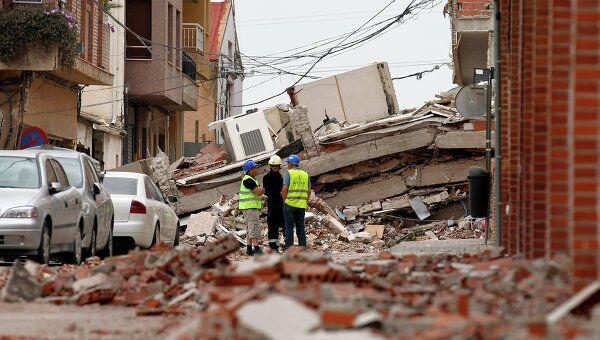 Землетрясение в Испании