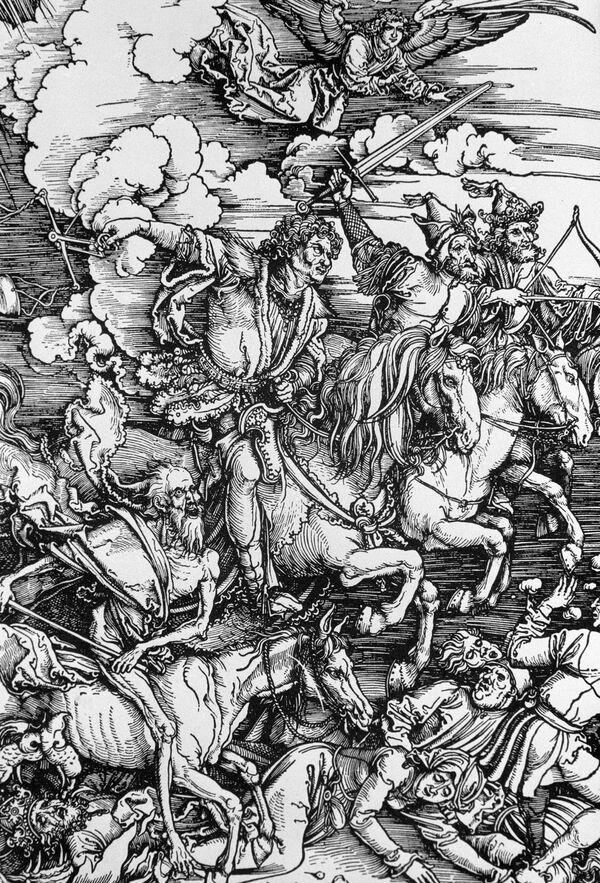 Рисунок Дюрера Четвертый всадник Апокалипсиса