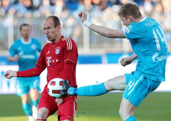 Игровой момент матча Зенит - Бавария