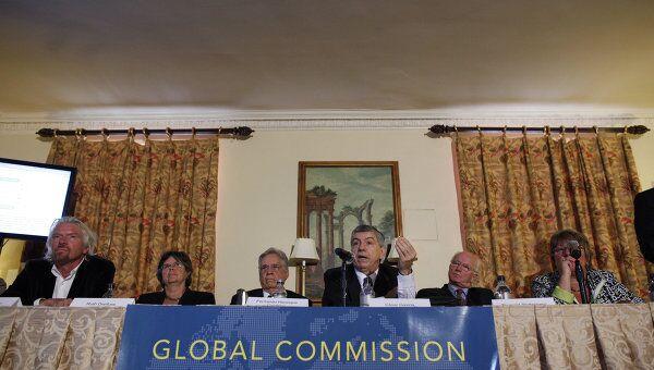 Члены глобальной комиссии по наркотической политике (Global Commission on Drug Policy) представили доклад