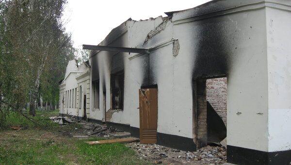 Склады боеприпасов,разрушенные во время взрыва на арсенале в Удмуртии