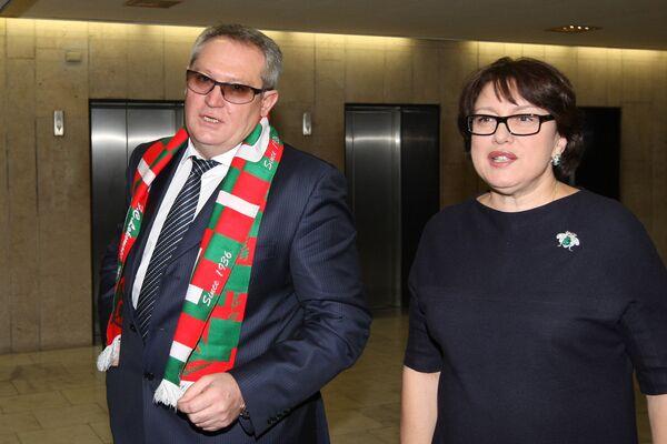 Юрий Красножан и Ольга Смородская (слева направо). Архив