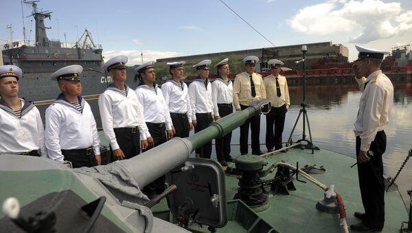 Учения на Каспийской флотилии. Архивное фото