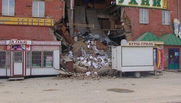 Обрушение перекрытий в 4-этажном здании в Кургане