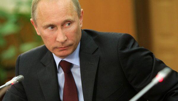 Встреча премьер-министр РФ Владимира Путина с членами президиума Союза транспортников России