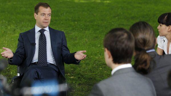 Президент РФ Д.Медведев встретился в Кремле с экологическими организациями