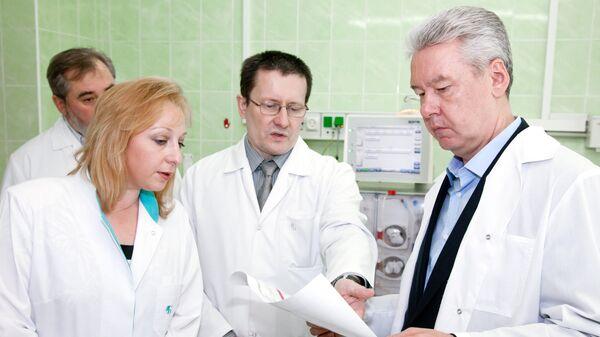 Мэр Москвы Сергей Собянин посетил городскую клиническую больницу № 52