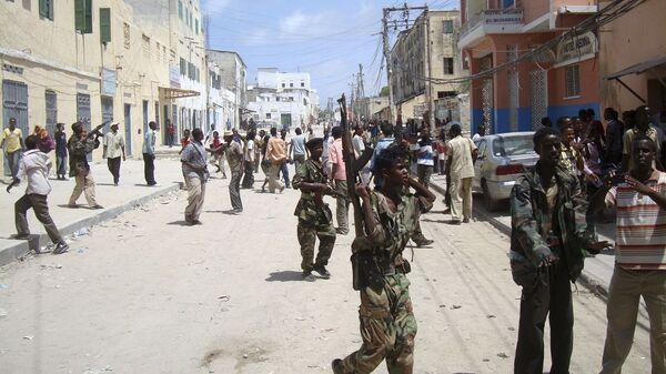 Сомалийские военные на улицах Могадишо
