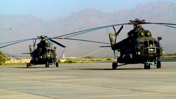 Вертолетный парк ВВс Афганистана . Вертолеты Ми-17 российского производства. Архивное фото