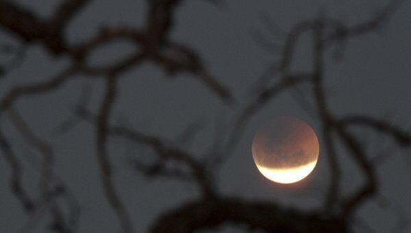 Лунное затмение в Бразилии
