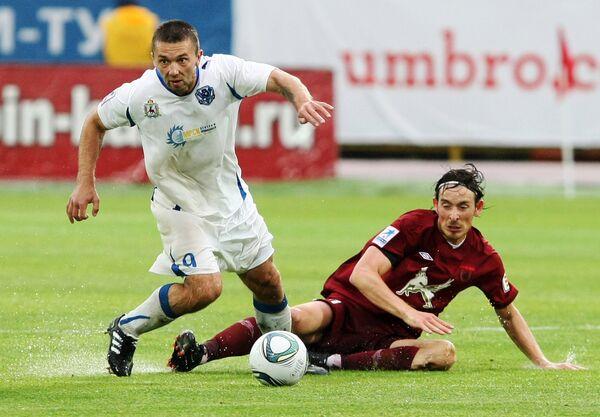 Игровой момент матча Рубин - Волга