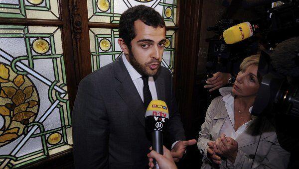 Адвокат Джона Гальяно Орельен Амель в суде Парижа отвечает на вопросы журналистов