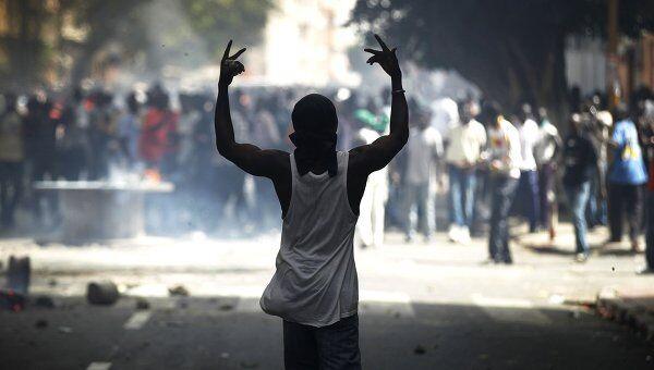 Антиправительственные акции протеста в столице Сенегала Дакаре
