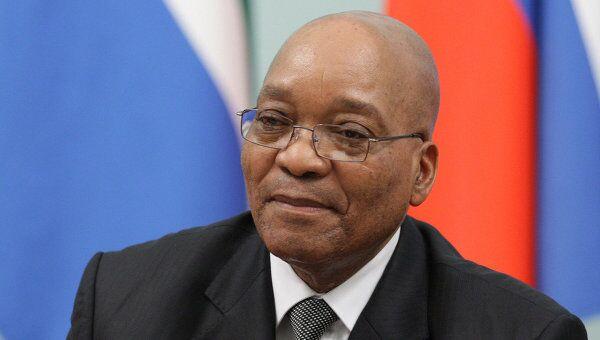 Президент Южно-Африканской Республики Джейкоб Зума. Архив