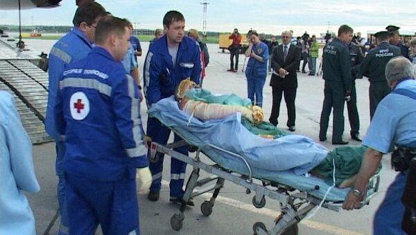 Пострадавшие при взрыве газа во Владикавказе доставлены в Петербург