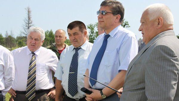 Владимир Поповкин на объекте космодром Восточный