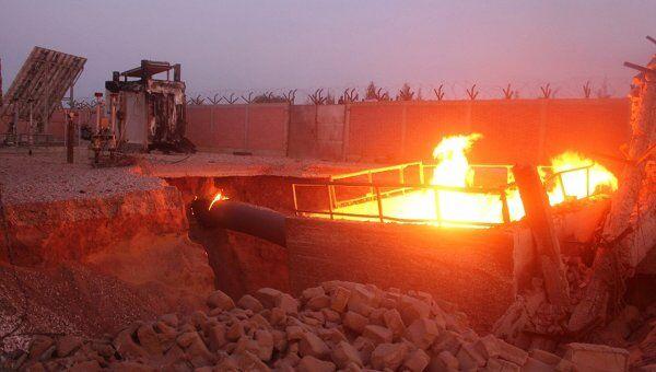 Взрыв на газораспределительной станции на Синайском полуострове в Египте