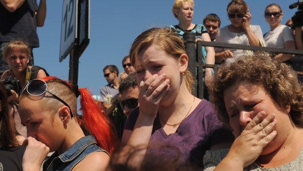 Акция в память о погибших на теплоходе Булгария в Казани