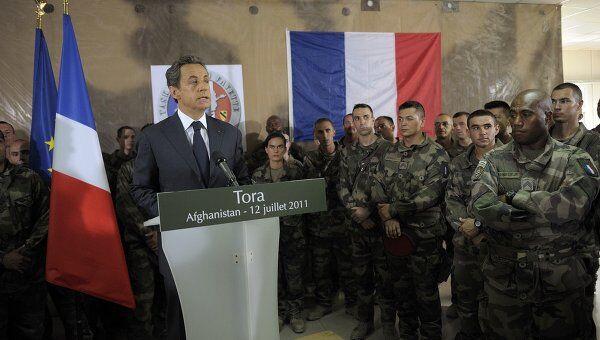 Визит президента Франции Николя Саркози в Афганистан