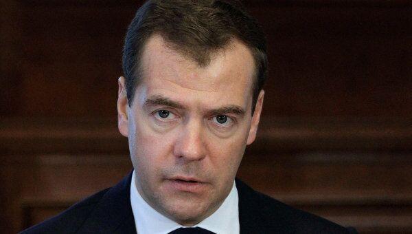 Встреча Д.Медведева с лидерами парламентских фракций