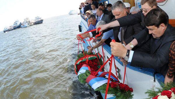 Траурные мероприятия в связи с крушением теплохода Булгария в Казани