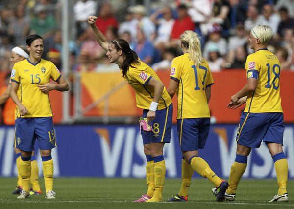 Футболистки сборной Швеции