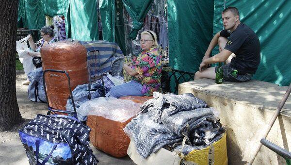 Последний день работы вещевого рынка в Лужниках