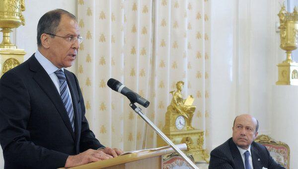 Глава МИД Сергей Лавров на собрании РСМД в Москве