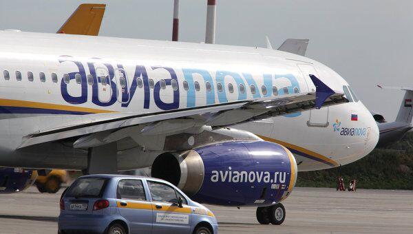 Самолет Airbus A320 авиакомпании Авиаnova