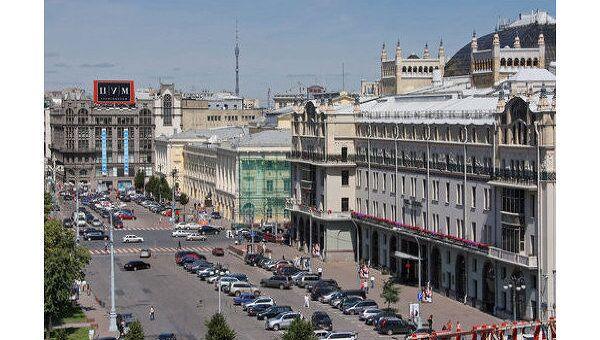 Вид на площадь Революции. Архив