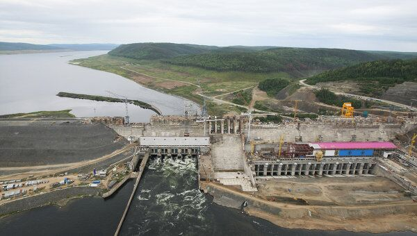 Богучанская ГЭС. Архивное фото