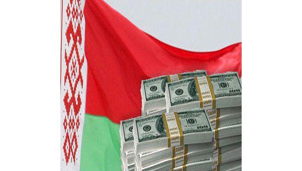 Флаг Белоруссии и доллары. Архив