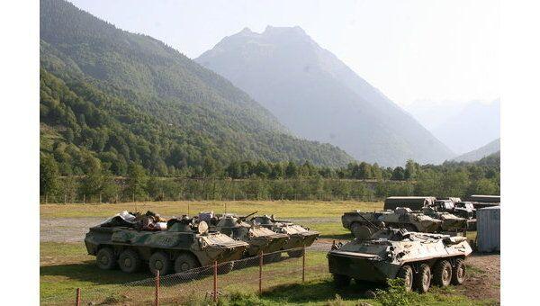 Российские военные в Кодорском ущелье (Абхазия)