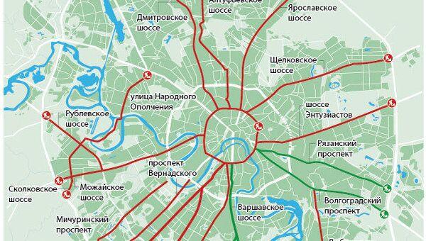 Планы по реконструкции основных магистралей в Москве