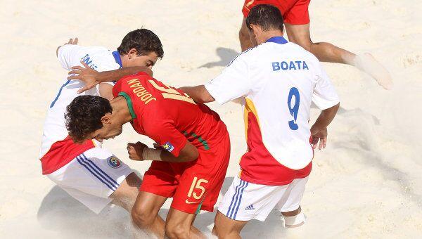 Игровой момент матча Португалия - Румыния