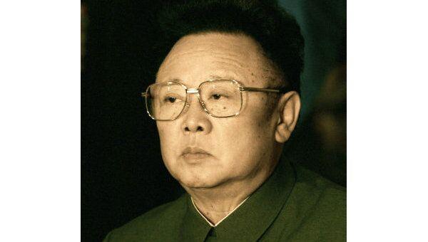 Руководитель Корейской Народно-Демократической республики Ким Чен Ир. Архив