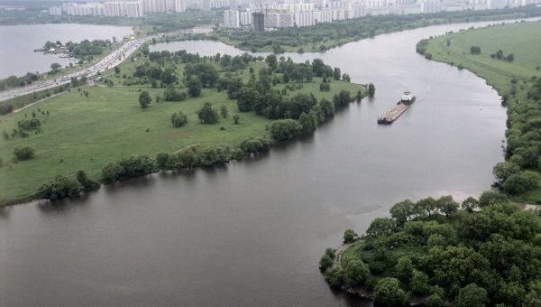 Москву-река и район Строгино. Архив